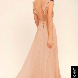 "Lulus ""Meteoric Rise"" Blush dress."